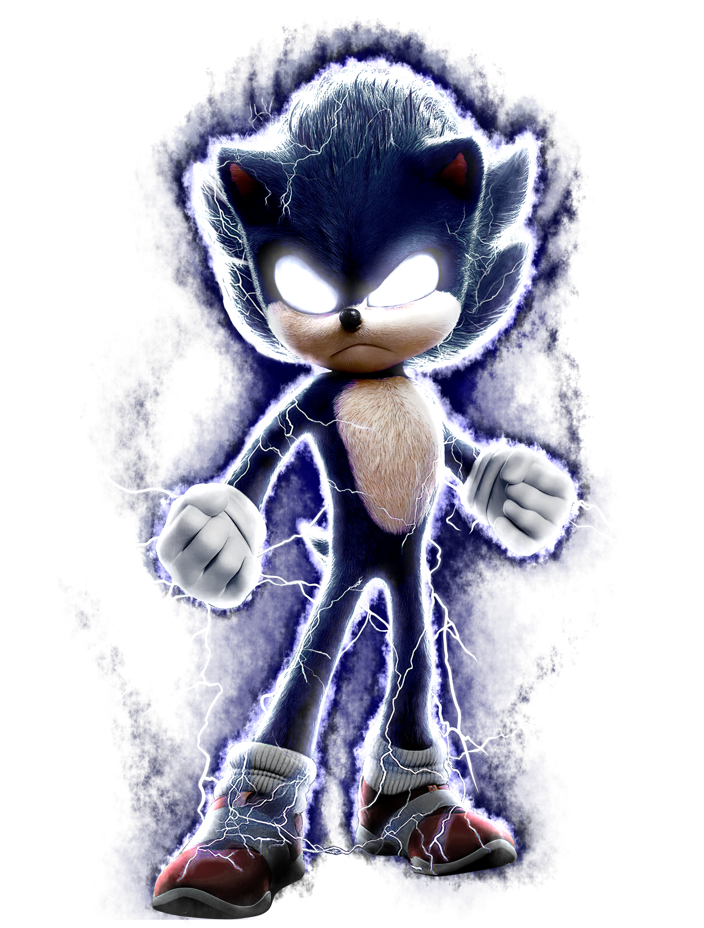 Dark Sonic Sonic The Movie Speededit Sonic The Movie Classic Sonic Sonic Fan Art