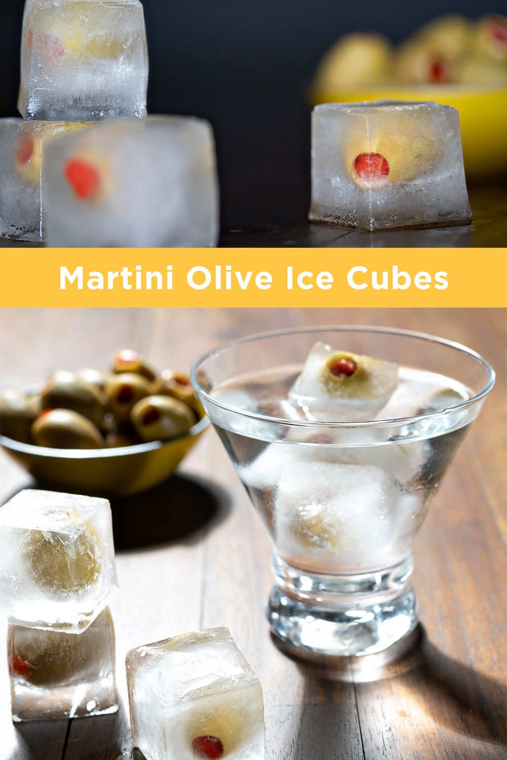 Martini Olive Ice Cubes In 2020 Olive Dishes Olive Recipes Martini Olives