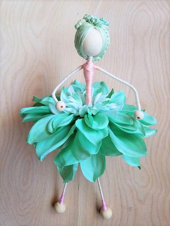 Flower Doll, Flower Fairy Doll, Flower Girl, Fairy Doll, Waldorf ...