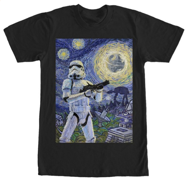 Stormtrooper meetsVan Gogh's Starry Night – High Quality T-Shirt Check out this Star Wars Stormtrooper Stormy Starry Night Adult T-shirt on Amazon Related Related posts: Star Wars TIE Fighter Steel