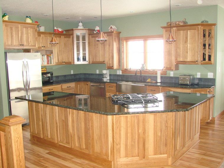 Best wall color with golden oak cabinets google search for Kitchen colors with white cabinets with where can i buy stickers