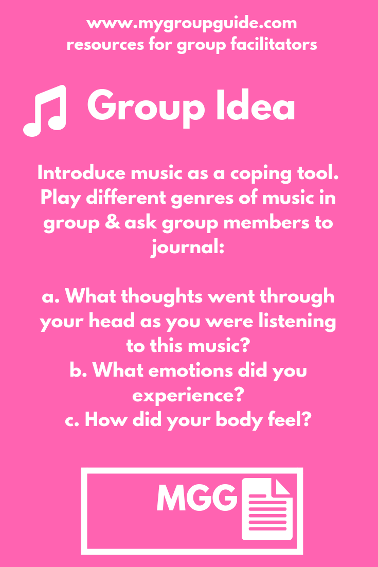 My Group Guide Learn More About Our Therapy Resources Music Therapy Activities Group Counseling Activities Group Therapy Activities