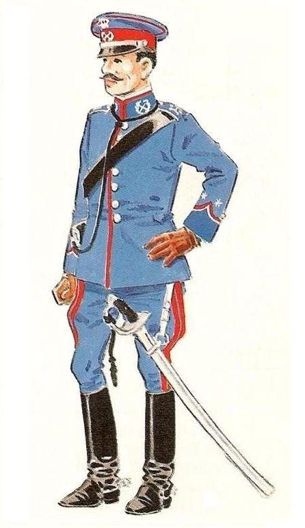 Farnesio 1909 Lanceros. Teniente