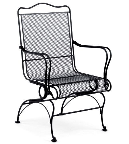 High Back Coil Spring Chair Patio Chairs Wrought Iron Chairs