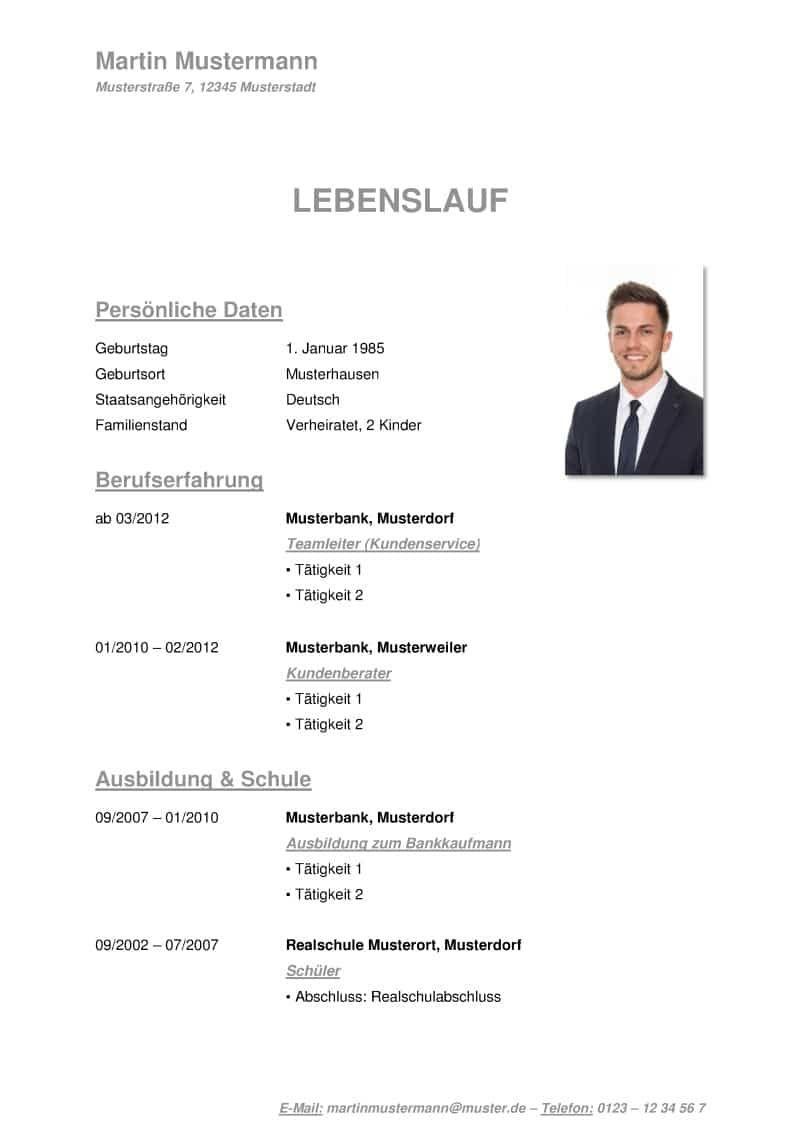 Einfacher Lebenslauf Deutsch Herunterladen Ogrenme