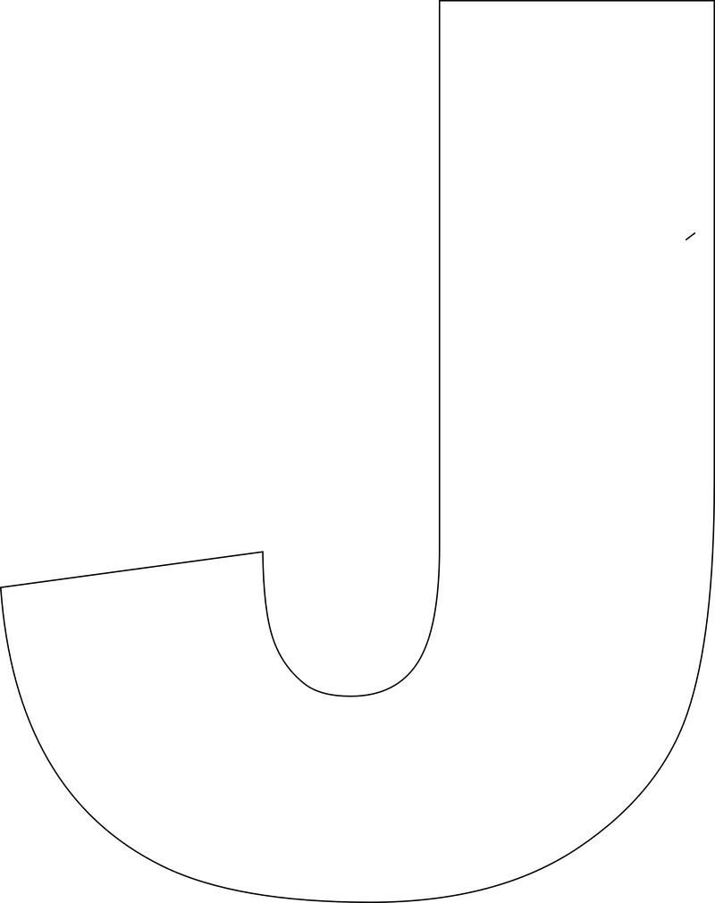 free printable letter j template  Free Printable Upper Case Alphabet Template | Alphabet ...