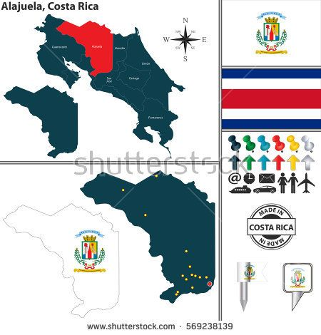 Vector map of province alajuela with flag and location on costa vector map of province alajuela with flag and location on costa rican map costa rica pinterest flags spain and vector vector gumiabroncs Choice Image
