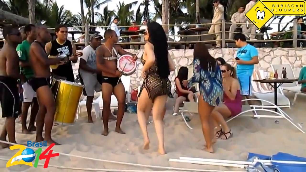 Hot Mexican Girl dancing native song in Brazil Soccer Cup