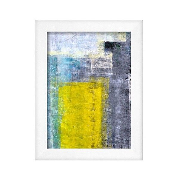 Art.com Framed Wall Poster Print Grey-Teal And Yellow Abstract Art ...