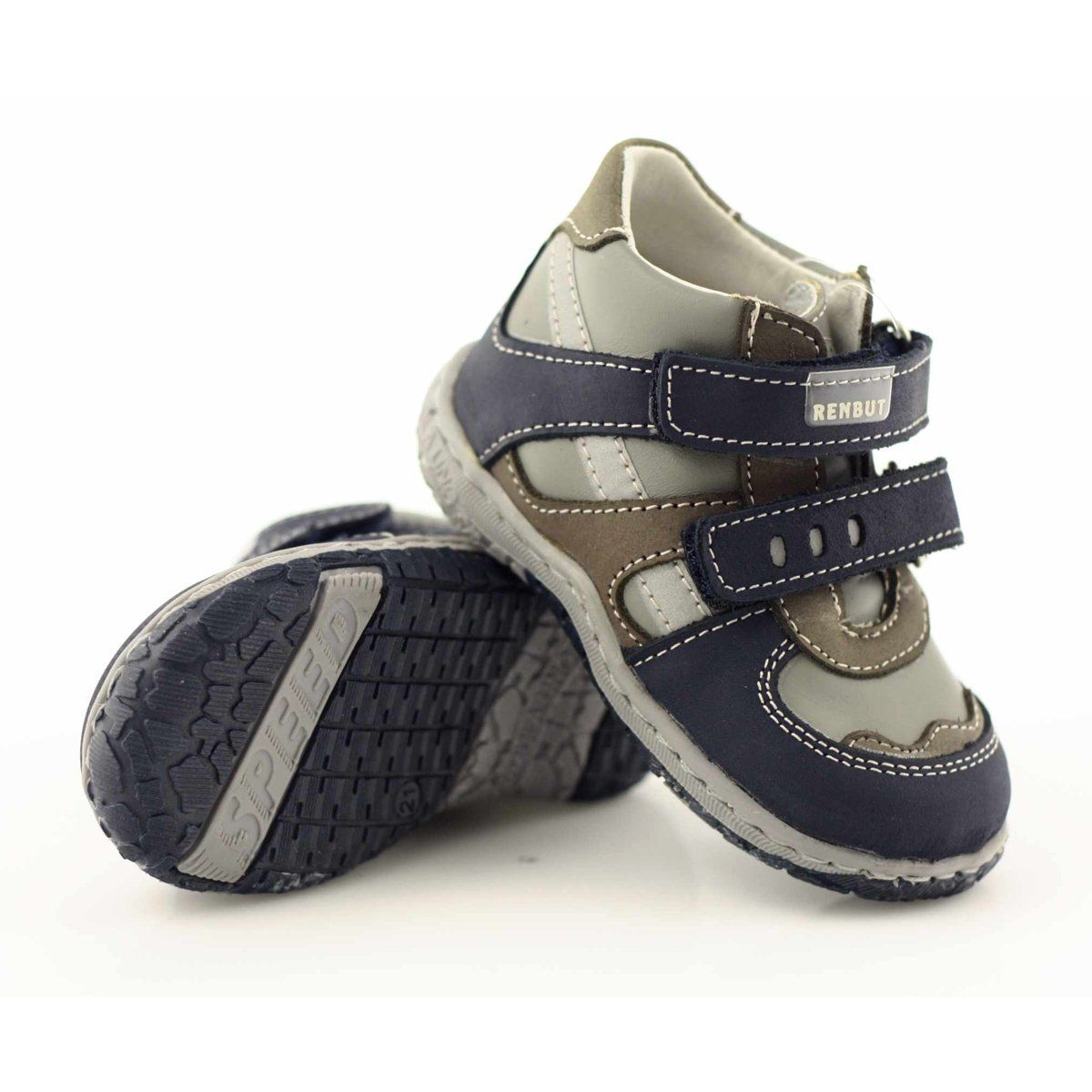 Trzewiki Chlopiece Ren But 1363 Granatowe Szare Fisherman Sandal Sandals Shoes