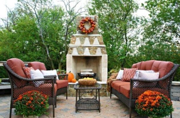 Patio Outdoor Sessel Kamin Design Apfelkranz Basteln Zum Aufhangen