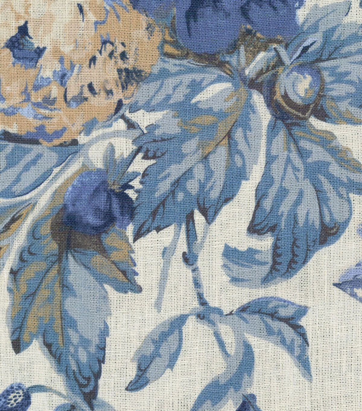 Waverly Multipurpose Decor Fabric Kensington Bloom Porcelain Joann In 2020 Fabric Decor Blue And White Fabric Decor