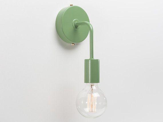 Minimalist color wall sconce green retro loft