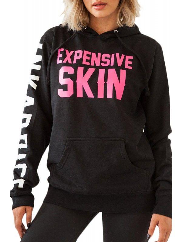 Women's Expensive Skin Pullover Hoodie - Black | Pullover, Hoodie ...