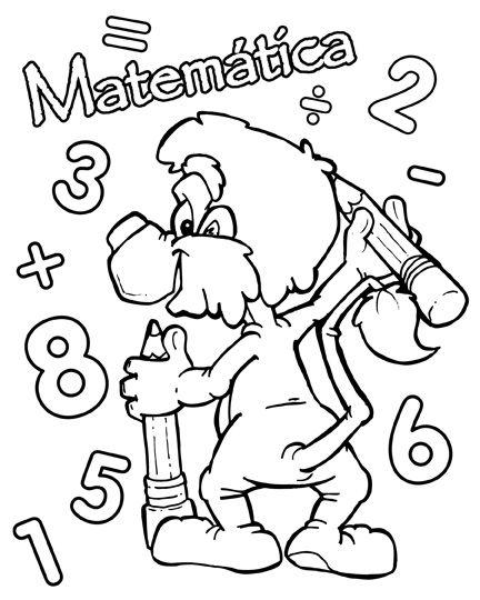 Resultado De Imagen Para Caratulas De Matematicas School Coloring Pages Coloring Pages Melonheadz Clipart