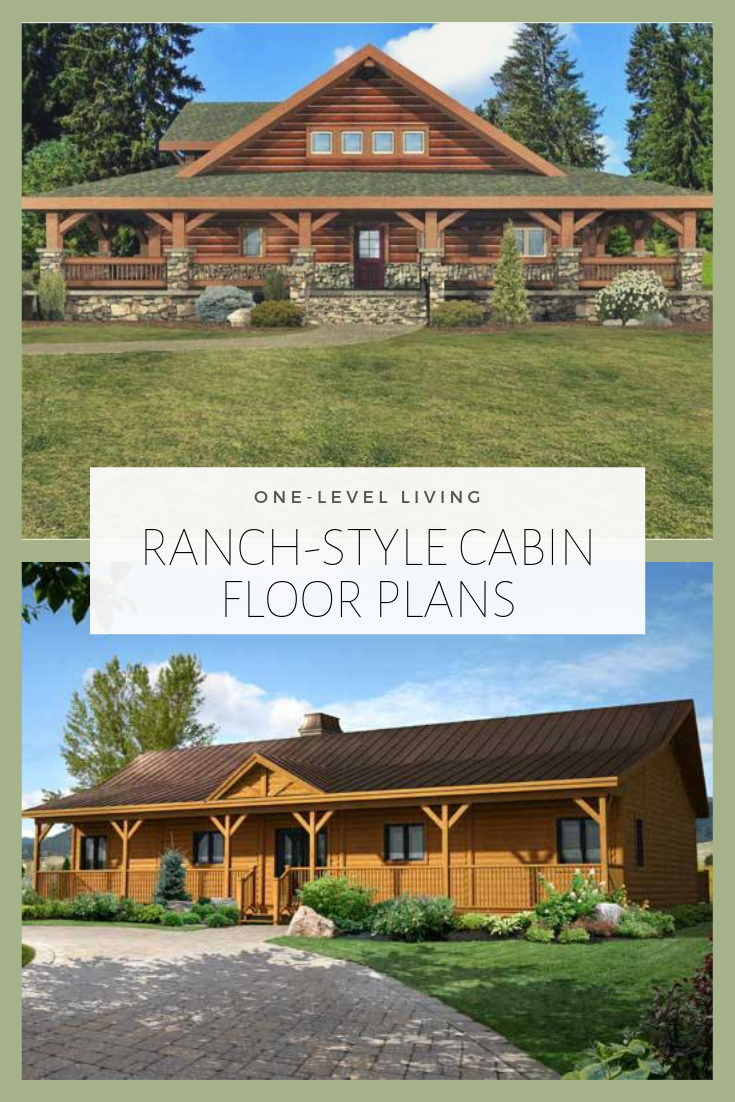 Ranch Style Cabin Floor Plans Cabin Floor Plans Cabin Style Homes Log Cabin Floor Plans