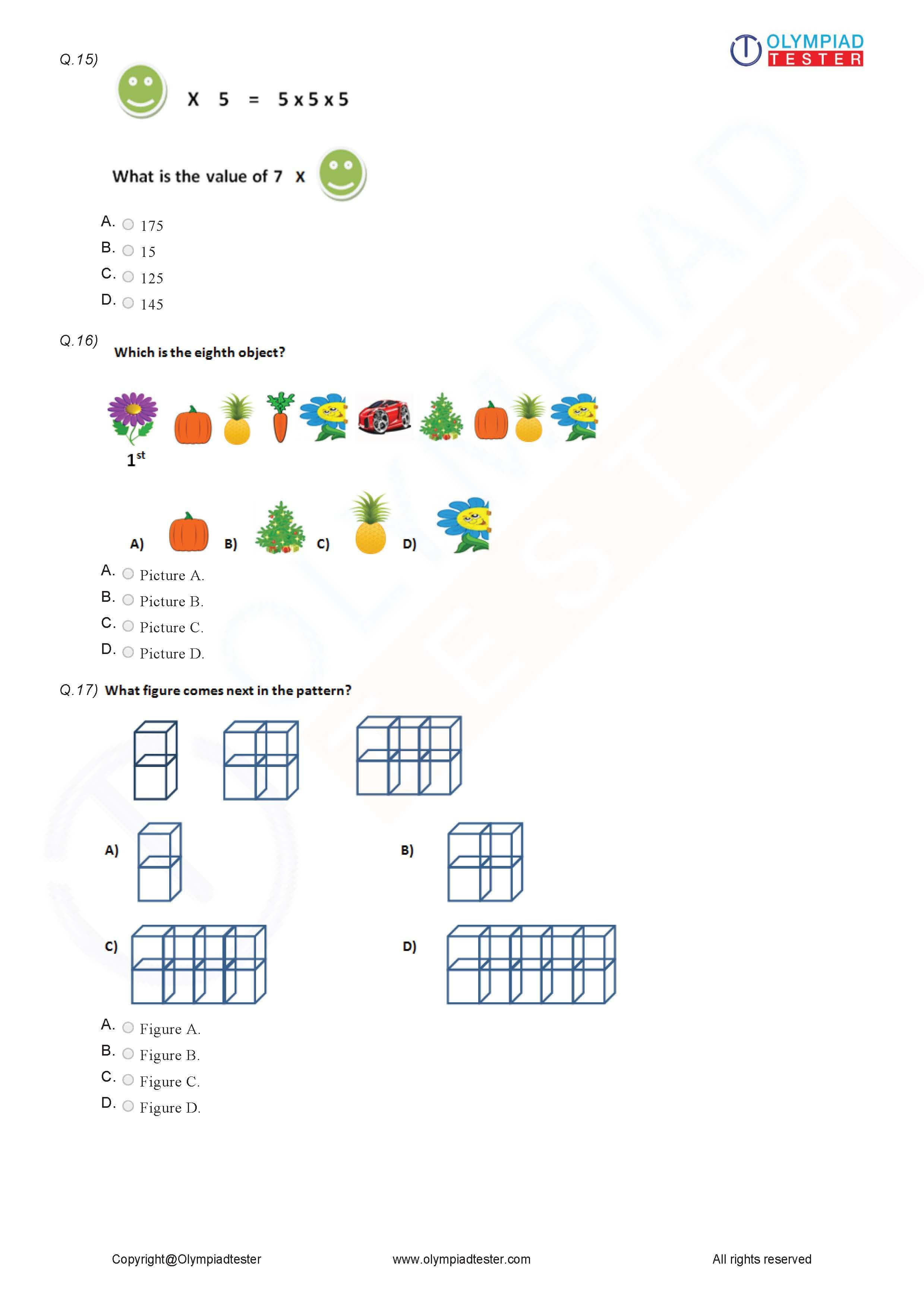 small resolution of Class 2 Logical Reasoning Worksheet 05   Math olympiad