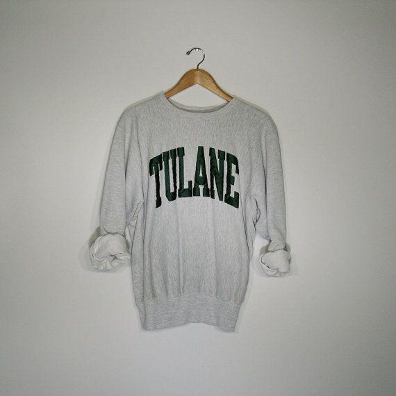 060d1956c8a 90s Vintage Tulane University Sweatshirt   Urban Outfitters Hipster  Sweatshirt