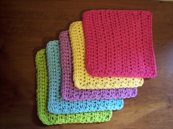56 Quick & Easy Crochet Dishcloth   Manta y Cocinas