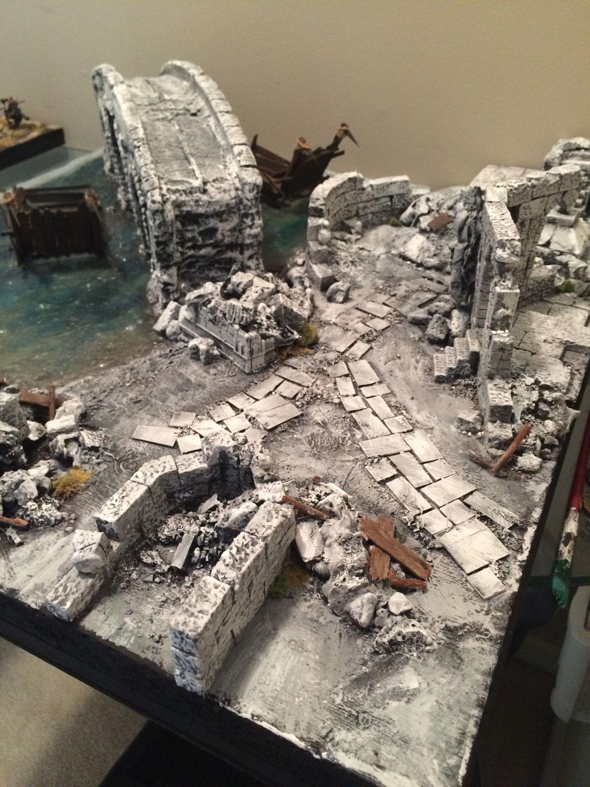 Warhammer Lotr Osgiliath Gondor Epic Display Board Diorama Gw Hobbit