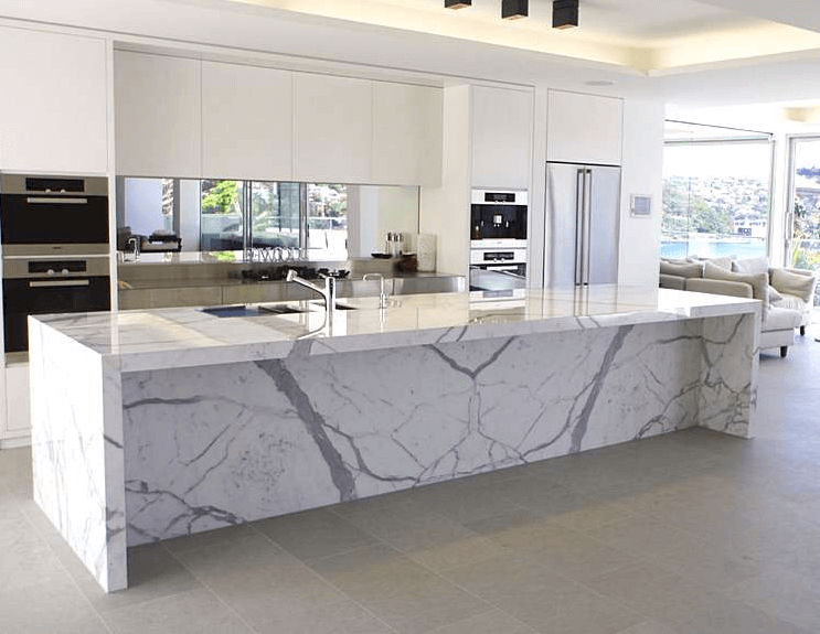 White Kitchen Island With Marble Top Marble Kitchen Island Marble Top Kitchen Island Modern Kitchen Island