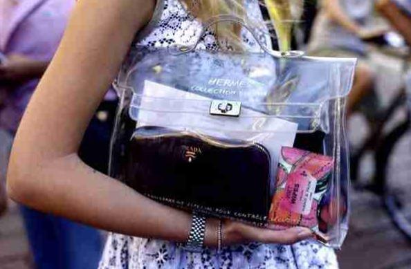 d0ede61a740 Hermes Clear Plastic Kelly Bag | Plastic bags in 2019 | Hermes kelly ...