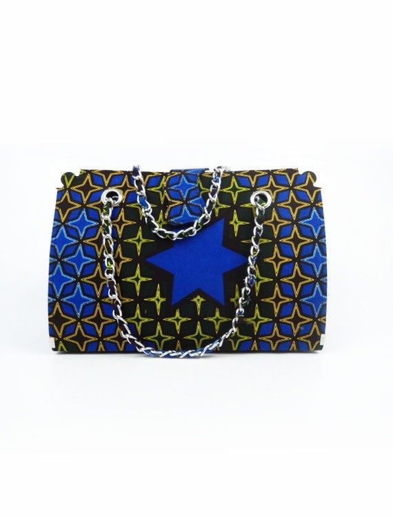 VIDA Leather Statement Clutch - Renegade Blue by VIDA onkZ5alr