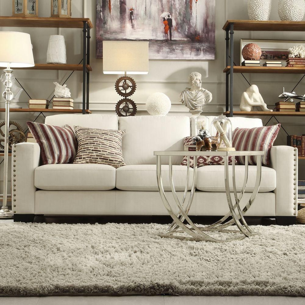 Awe Inspiring Octavia White Linen Sofa My Little Niche Linen Sofa Gmtry Best Dining Table And Chair Ideas Images Gmtryco