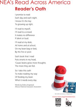 The Reader's Oath | Read Across America Idea | Pinterest ...