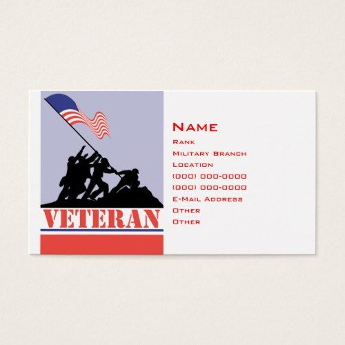military business cards