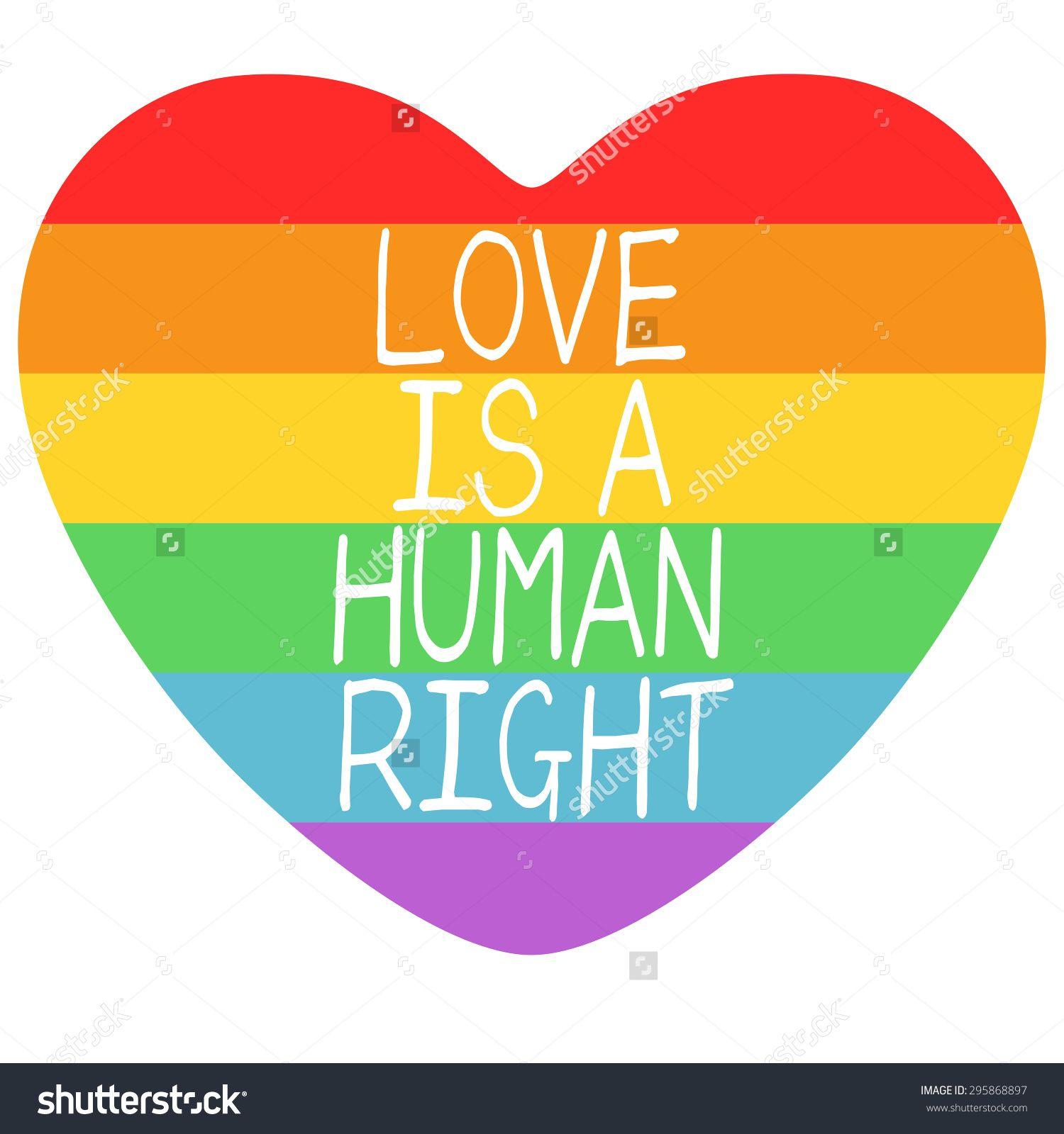 Poster Lgbt Support Symbol Rainbow Flat Stock Illustration Gay