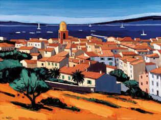 St Tropez By Jean Claude Quilici Claude Art Painting