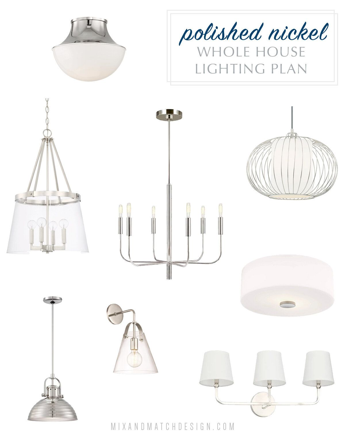 How To Choose Coordinating Light Fixtures For Your Home Light