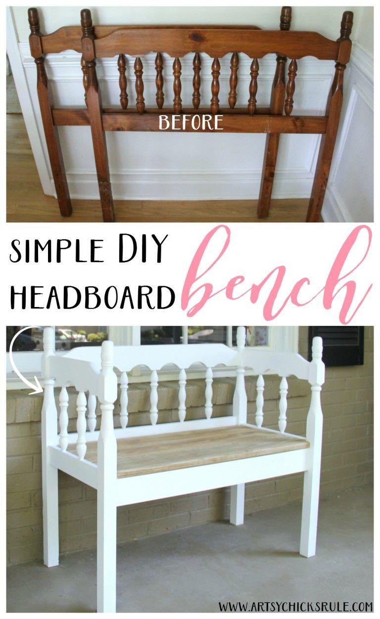 DIY Headboard Bench (super easy repurpose!) Furniture