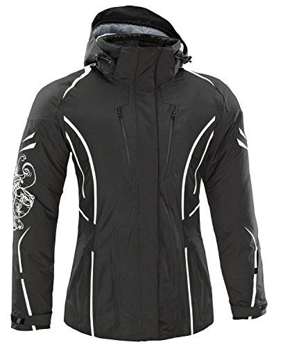 a169961fb2 Amazon.com  Joe Rocket Ladies Cold Weather Rocket Crew Jacket Black White   Sports   Outdoors