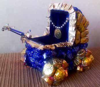 Коляска из конфет своими руками мастер класс