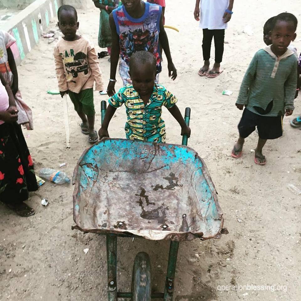 This 3yearold boy in Mauritania works hard alongside