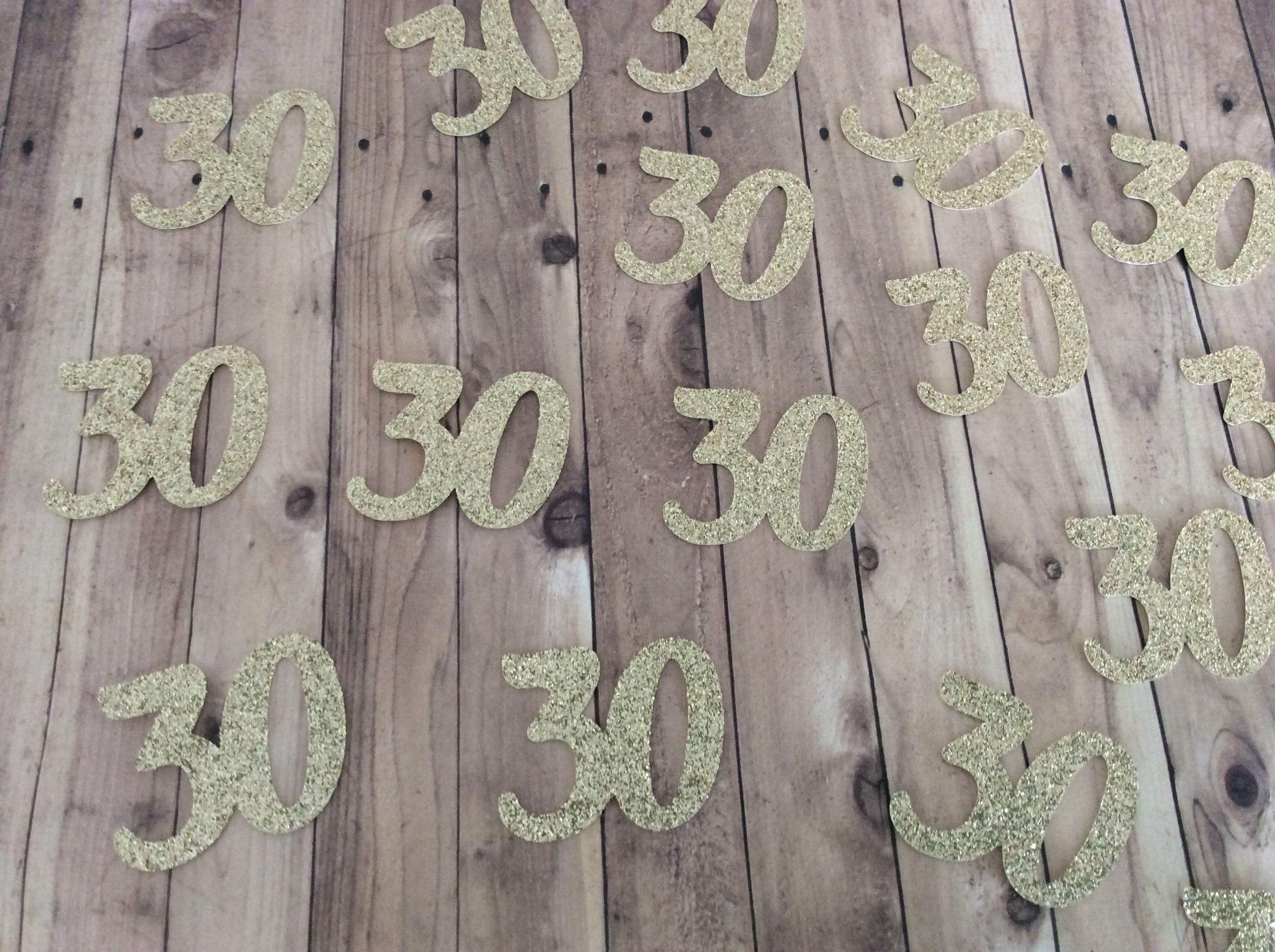30 confetti 30th birthday decorations 30th confetti age