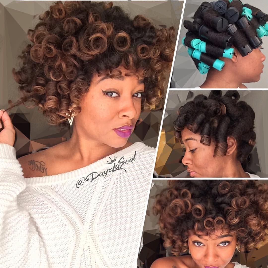 Perm for very short hair this epic perm really speaks for itself - Perm Rod Set Large Jumbo Black Rods On Wet Natural Hair Insta Dayelasoul