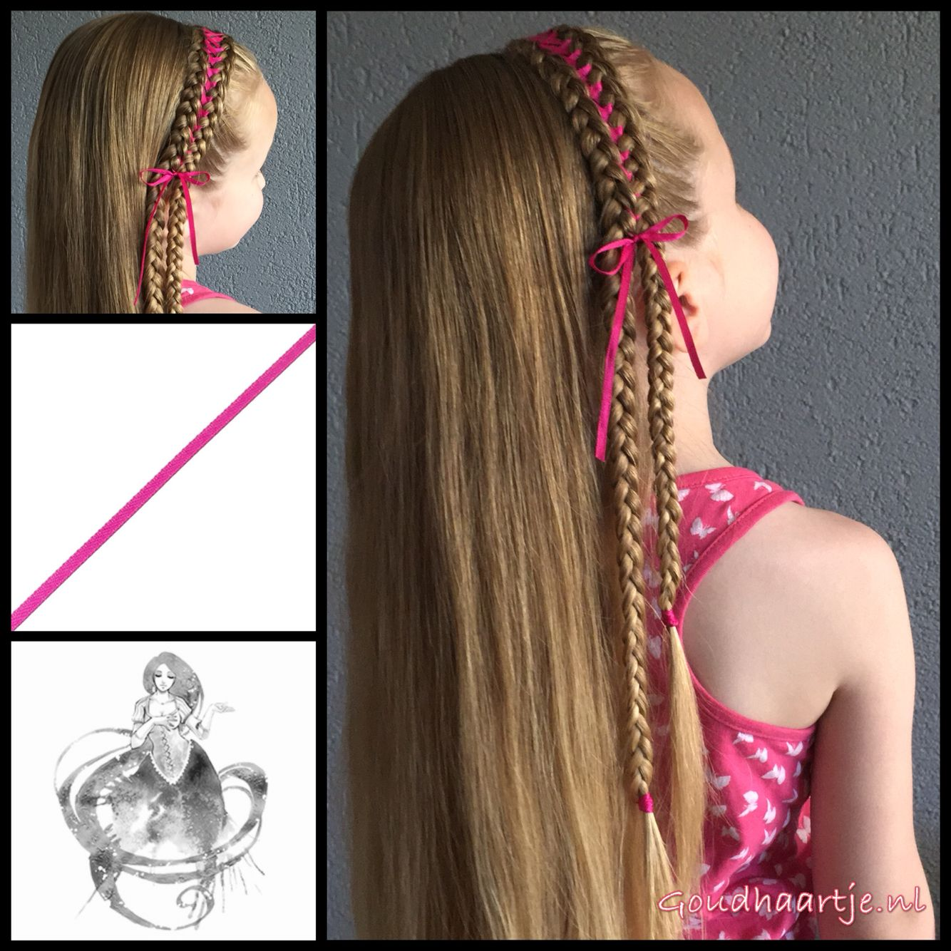 Headband Corset Braid With A Small Ribbon From The Webshop Www Goudhaartje Nl Hair Styles Headband Hairstyles Braided Hairstyles