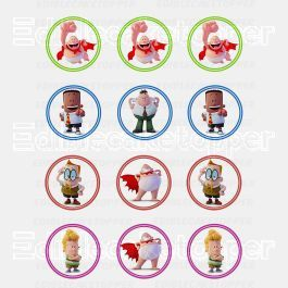 Captain Underpants Edible Cupcake Toppers (12 Images) Cake Image Icing Sugar Sheet Edible Cake Images #pictureplacemeant