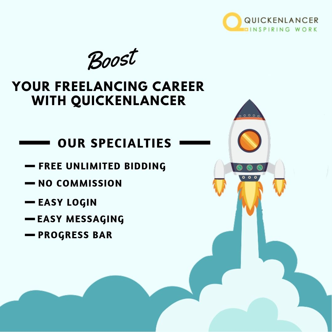 Boost Your Freelancing Career With Quickenlancer Register On Quickenlancer Com Freelancer F Freelancing Jobs Freelance Web Design Freelance Graphic Design