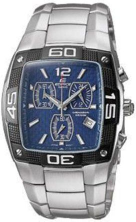 Mens Stainless Steel Edifice Square Blue Dial Casio Watches