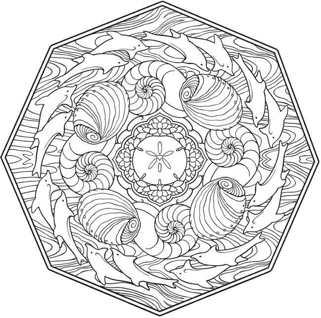 Creative Haven Mandalas Collection Coloring Book | Dover Coloring ...