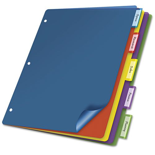 Cardinal 5 Tab Poly Index Dividers Without Pockets 4pk Index Dividers Binder Pockets Paper Pocket
