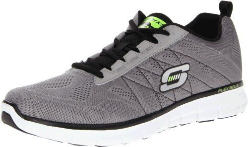 Skechers Men's Synergy Power Switch Memory Foam Fashion Sneaker,Light  Grey/Black,11