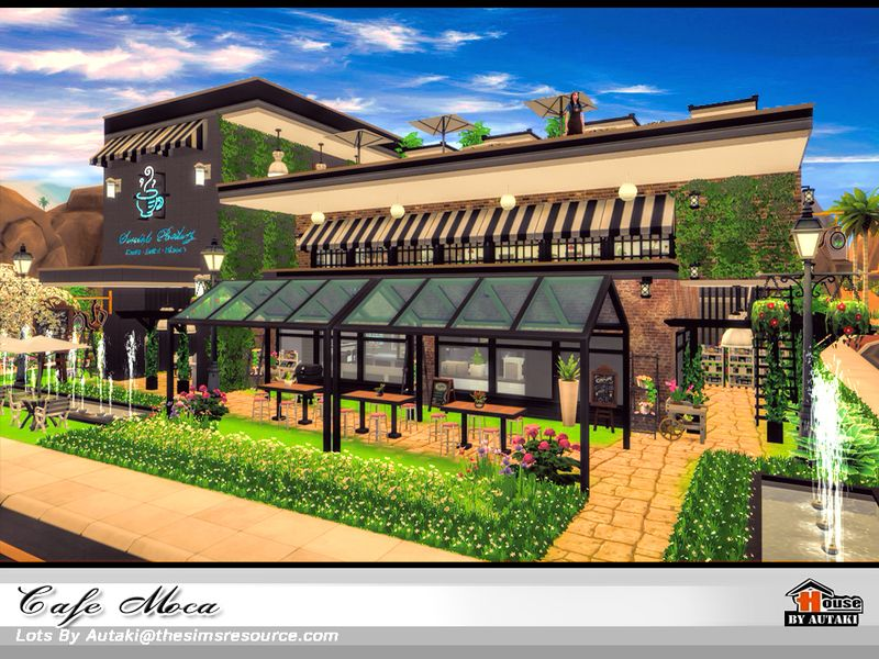 Cafe Moca Found in TSR Category 'Sims 4 Community Lots
