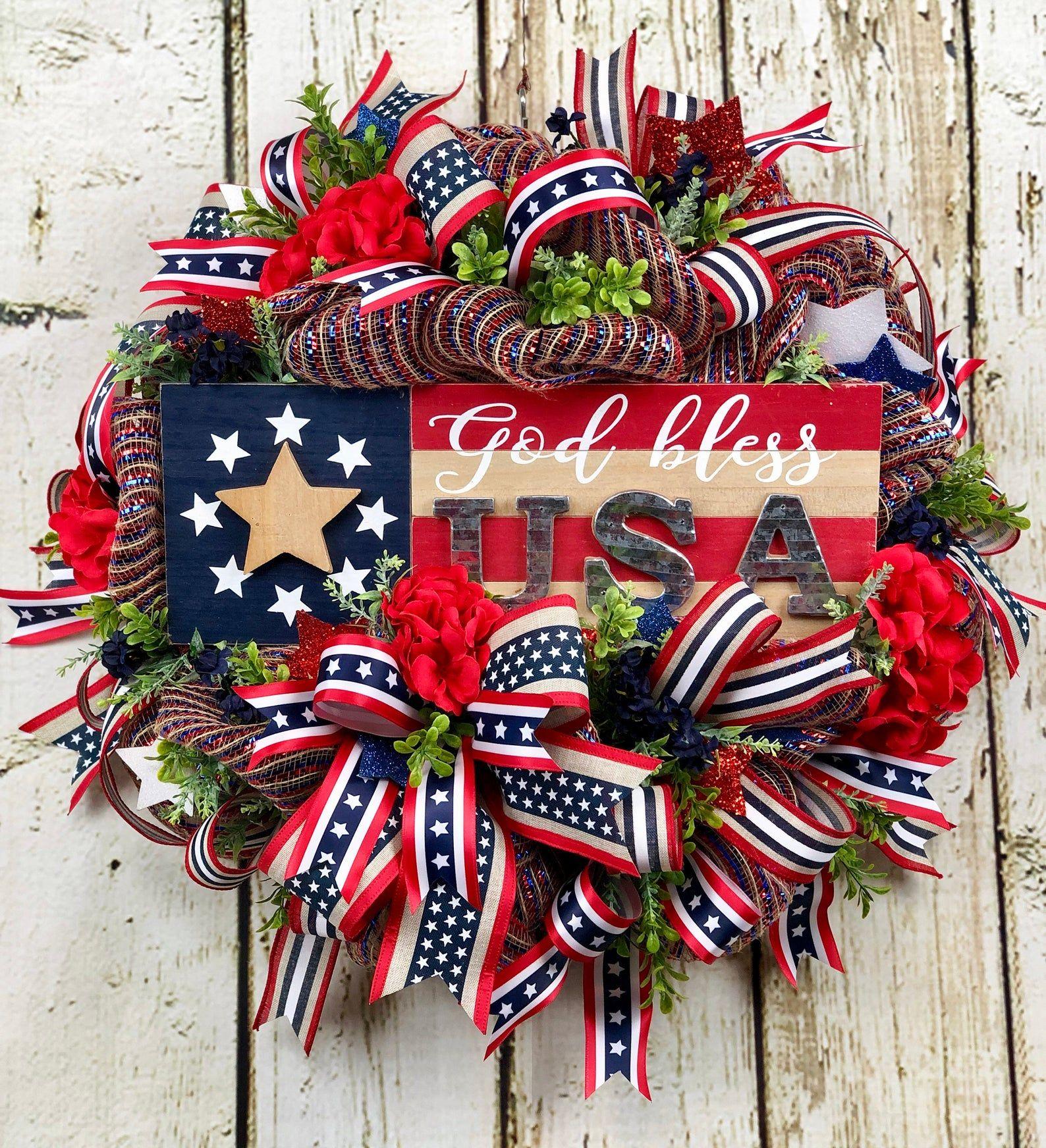 Patriotic wreath for front door patriotic wreath patriotic