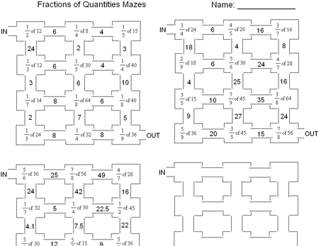 Fractions Of Quantities Worksheets Ks2 - primaryleap co uk ...