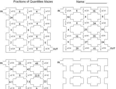 Fractions of Quantities | fracţii | Pinterest | Math, School and ...